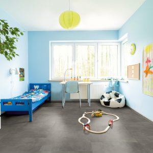 Interieurfoto Gelasta PVC Dryback Pure Tile 8508 Basalt Grey