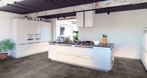 Interieurfoto Gelasta PVC Dryback Pure Tile 8509 Basalt Brown