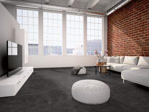 Interieurfoto Gelasta PVC Dryback Pure Tile 8501 Slate Black