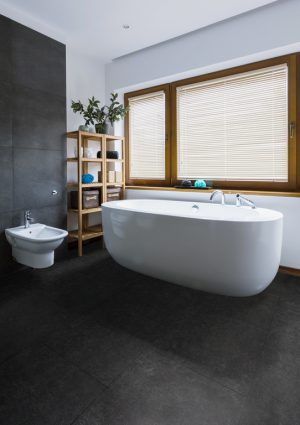 Interieurfoto Rigid Core Tile 8801 Natural Stone Black