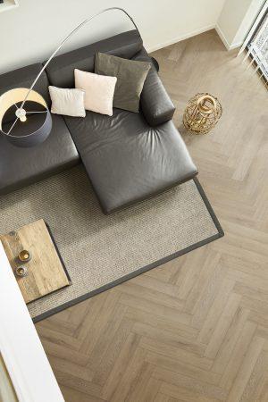 Interieurfoto PVC Rigid Click COREtec Naturals 804 Lumber Visgraat