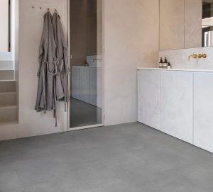 PVC Rigid Click COREtec Essentials Tile Series Polished Concrete 95