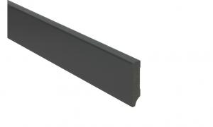 MDF Hoge plint 7 cm zwart