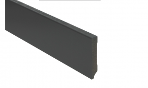 MDF Hoge plint 12 cm zwart